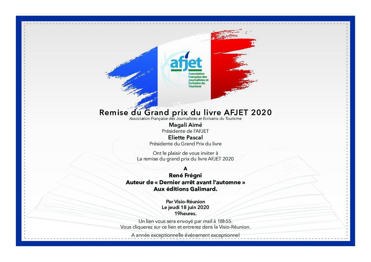 Prix littéraire AFJET 2020